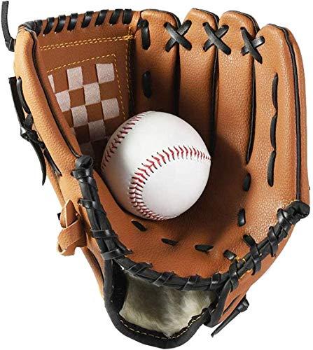 Wonninek Guante de béisbol Guantes Deportivos de bateo con Piel sintética de béisbol Ajustables y cómodos 10.5 Pulgadas Mano Derecha, Mano Izquierda