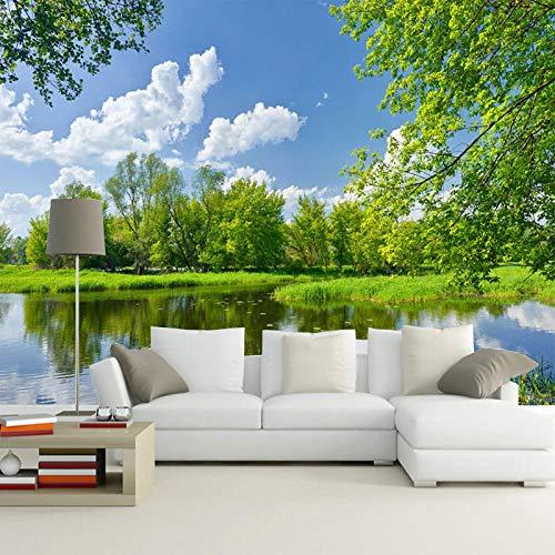 Carta da parati - Scenario della natura di stile cinese 3D Fotomurali Murale alla moda Decorazione da Muro Poster Gigante Design Carta For living room 350x256 cm