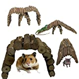 Pet <span class='highlight'>Small</span> Animal Toys Accessories Wooden Bendy Bridge Mouse Hamster Rat Gerbil Chinchilla Reptile Chew Hide