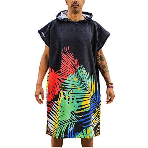 Nonbak Poncho Toalla Micro algodón Deportes acuáticos Surf 60%algodón 40% Microfibra (Negro...