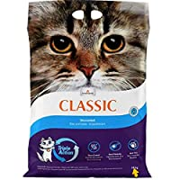With TRIPLE ACTION: patented technology to neutralise odours Premium clumping litter with extra-strong clump formation Economical thanks to the clumping 350% absorbency rate Up to 99.9% dust-free