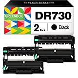GREENBOX Compatible Drum Unit Replacement for Brother DR730 DR-730 for HL-L2350DW HLL2395DW HLL2390DW HL-L2370DW HL-L2370DWXL MFC-L2750DW MFC-L2750DWXL MFC-L2710DW DCP-L2550DW (2 Black)