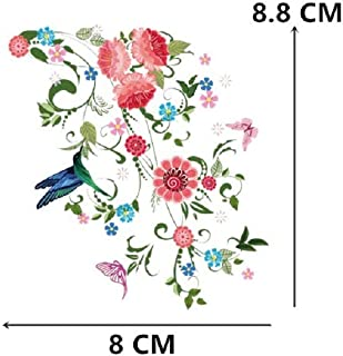 (30 Styles) Flowers Iron on Heat Transfer Patches for Kids Clothing DIY Stripe Applique T-Shirt A-Level Washable Custom Stickers (2)