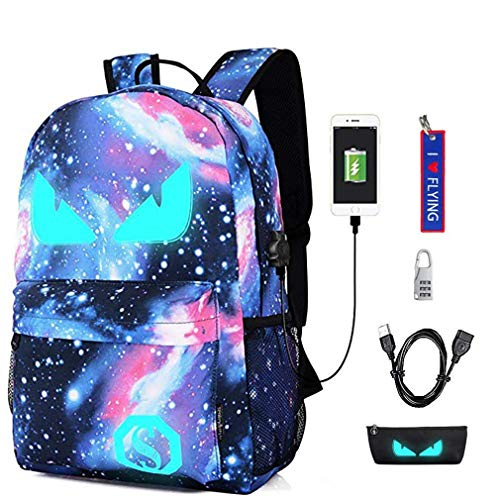WYCY Anime Cartoon Luminous Backpack mochila de moda con