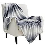 Bedsure Fleece Blankets Twin Size Grey - Cozy Lightweight Soft Throws and Blankets for Sofa, 60x80 Inches