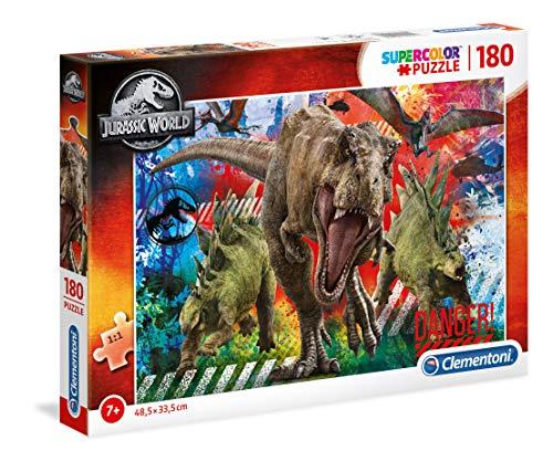 Clementoni- Jurassic World-180 Piezas Puzzle Infantil Fabricado en Italia, 7 años y más, 29106