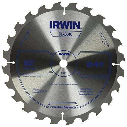IRWIN 10-Inch Miter Saw Blade, Classic Series, Carbide Table (15070)
