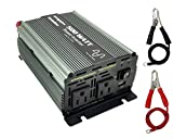 VertaMax Pure SINE Wave 500 Watt (1000W Surge) 12V Power Inverter DC to AC Power - Solar, RV, Car, Off Grid