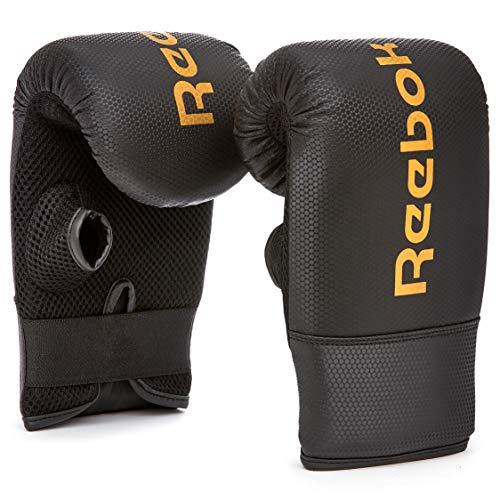 Reebok Boxing Mitts Guantes de Boxeo, Unisex-Adult, Negro/Oro
