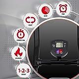 Ultrasport Ultra 150 Power AB Trainer Aparato de Abdominales, Gimnasia con Apoyo para Rodillas, máquina Plegable con Consola, Ajustable en 4 Posiciones, posicionamiento suave, Unisex, Negro