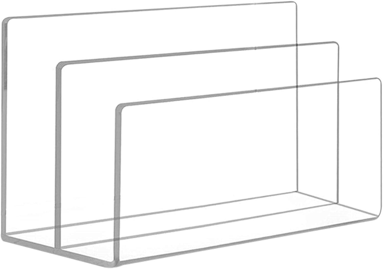 YangMeng 2 Grid Charlotte Mall Acrylic File Transparent O Vertical Desktop Phoenix Mall Rack