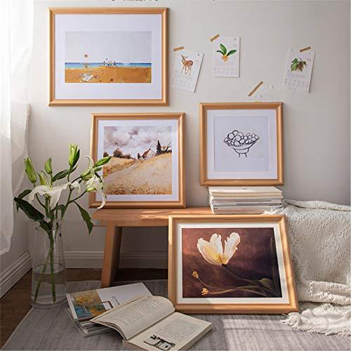 A3 / A4 / Marco De Fotos De Madera Maciza/Se Puede Colgar En La Pared/Rectángulo/Pared De Decoración De Sala De Estar/Pared De Exhibición/Marco De Espejo 15x21 Inch(38x53cm)