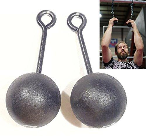 Set of 2 Warrior Life 3-inch Climbing Bombs, Power Training Cannonballs - American Ninja Warrior Holds, Crossfit Grip Strength Training