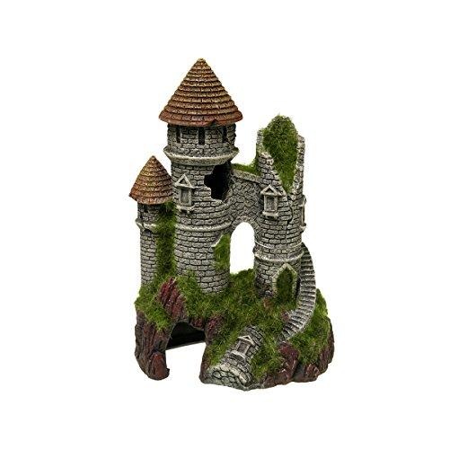 Blue Ribbon EE-1124 Exotic Environments Mountain Top Citadel with Moss Aquarium Ornament