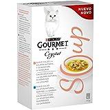 Purina Gourmet Crystal Soup comida para gatos con Salmón Natural y Verduras  10 x [4 x 40 g]