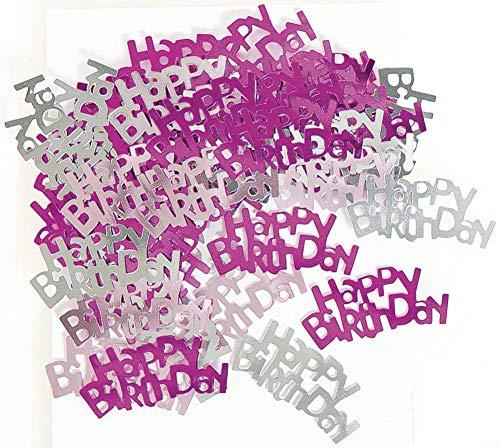 Banderas y decoraciones para fiesta de 90 cumpleaños con texto en inglés 'Happy 90th Birthday', color rosa
