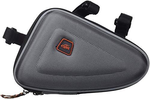 Cablematic - Bolsa maletín para cuadro de bicicleta de color gris