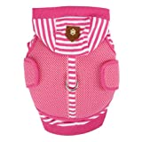 Puppia Twosome Harness and Hooded Shirt All-in-1, Extra-Large, Pink