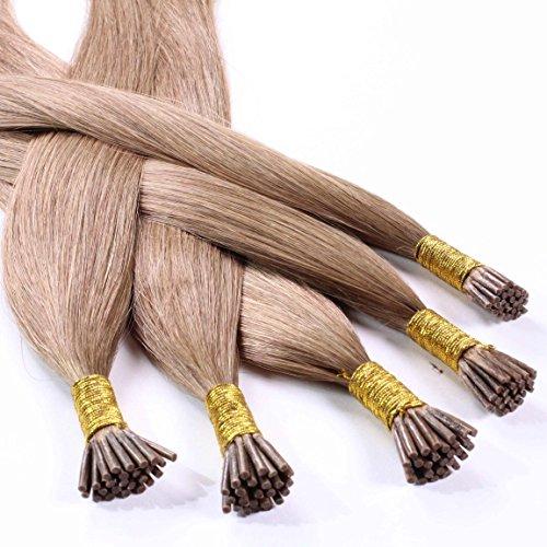 Hair2heart Microring Stick Extensions, 25 x 1 g echt haar, glad 50cm #14 donkerblond