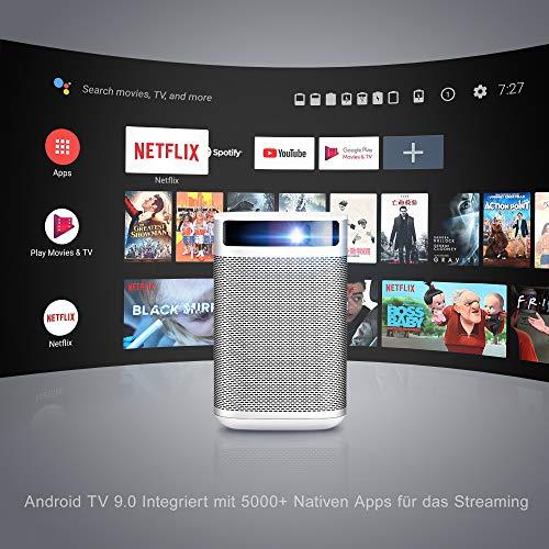 Proyector, XGIMI MOGO Pro proyector portatil, 1080p Full HD Proyector LED, 300 ANSI Lumen, Mini proyector con Android TV 9.0, Youtube y más de 4000 Aplicaciones
