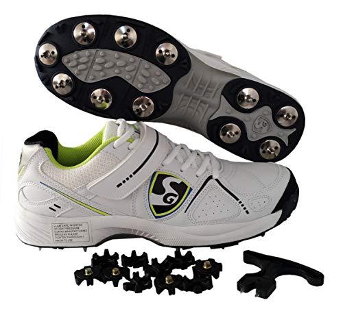 SG Hilite 4.0 Cricket Shoes Men Wh/Fluo/Blk