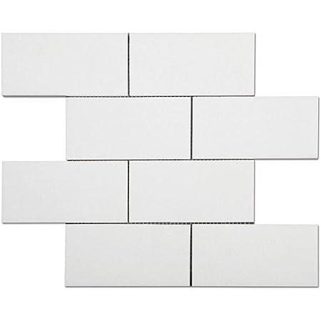 Thassos White Greek Marble 3 X 6 Subway Brick Tile Polished Amazon Com