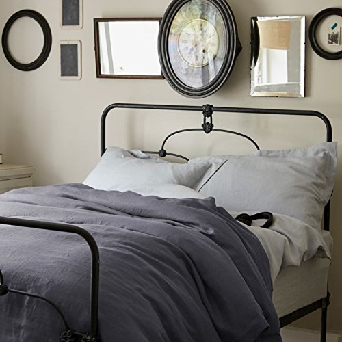 100% Pure French Linen - Superking Duvet Cover - Midnight Grey