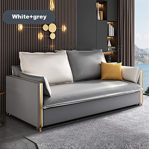 WSZMD TECNOLOGÍA Multi Funcional Sofá Cama Push-Tull Doble Salón Familia Simplemente Simple Sentado Y Cama para Dormir, Sofá Cama (Color : Bgray and White)