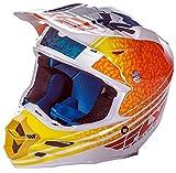 FLy Racing 2017, Casco da Motocross, MTB, F2 Carbon Animal – Arancione-Bianco/Verde Acqua, Bianco, Arancione, Turchese, XL