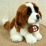 Bernhardiner mit Fass aus Plüsch, sitzend ca. 30cm, LEOSCO, Plüschtier Hund Bernhardiner mit Fass