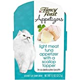 Ten (10) 1.1 Oz. Tray - Purina Fancy Feast Appetizers Light Meat Tuna With A Scallop Topper Adult Wet Cat Food Complement Features Real, Recognizable Ingredients Served In A Convenient Peel-And-Serve Tray Tender, Flaked Texture To Tempt Your Cat Offe...