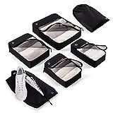 Blumtal Koffer Organizer Set 6-teilig - Robuste Packing Cubes, Packwürfel, Packtaschen für Koffer