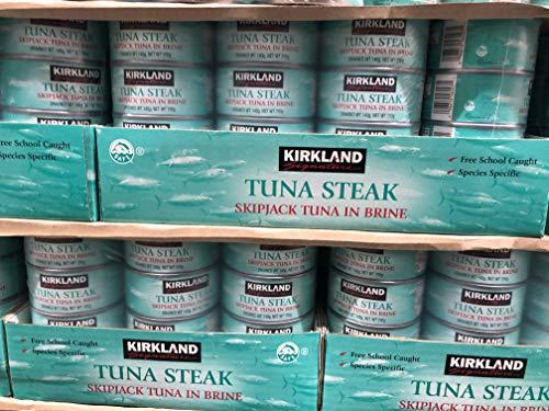 Kirkland Signature Thunfisch Steak Skipjack in Salzwasserablauf, 12 x 140 g