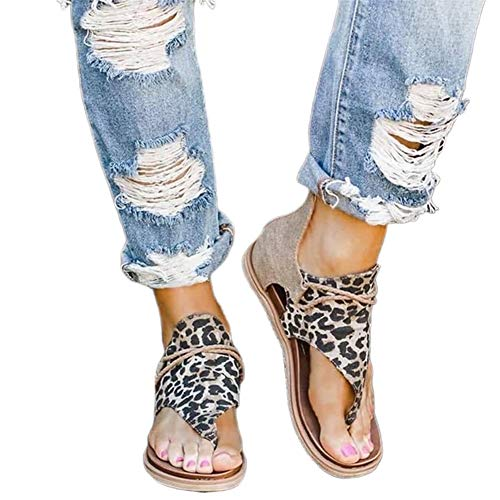 Pointsee Sandalias De Mujer, Zapatillas De Verano De Moda, Chanclas De Playa Con Estampado De Cebra De Serpiente De Leopardo, Zapatos Planos Cómodos