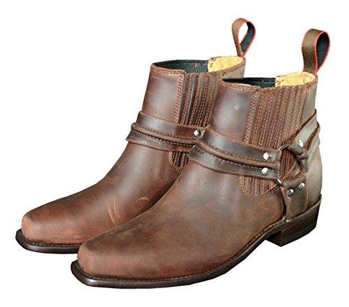 STARS & STRIPES Westernstiefel WB-03 Cowboystiefel bzw. Cowboy Boots & Bikerstiefel Westernstiefel für Damen und Herren (37) Braun