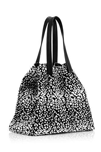 The Handbag Edit - Large Tote, Shoppers y bolsos de hombro Mujer, Blanco (Leopard), 16x48x30 cm (W x H L)