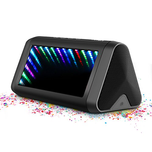 Portable Bluetooth Speakers, ELEGIANT 16W Loud Wireless Outdoor Speakers with Mic LED Lights Enhanced Bass/DSP Stereo Sound IPX 5 Waterproof 12 Hours Play Time for Home Party Car Travel Outdoors Beach