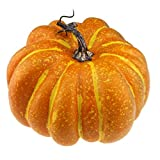 Gresorth 20 cm Fake Flat Pumpkin Lifelike Handle Artificial Food Halloween Christmas Decoration