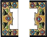 Números y letras para casas 3,5 x 7,5 cm. Pintados a mano con la técnica de la cuerda seca. Grabado y Ceramica Española (2 Cenefas)