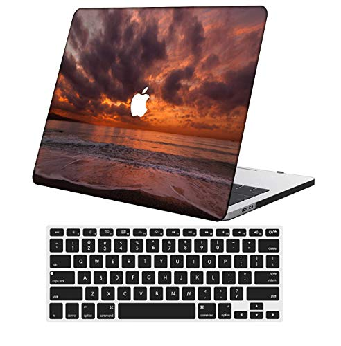 NKDCase Case for MacBook Pro 13 inch Retina Model A1425/A1502 Cut Out Design,Plastic Ultra Slim Light Hard Case Keyboard Cover Compatible MacBook Pro 13 inch No CD ROM/Touch,Colorful C 0787