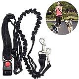 ADOGO - Guinzaglio per cani, che lascia le mani libere, assorbe gli urti, corda estendibile –Cintura in vita regolabile–per corsa, jogging o camminate
