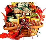Gobble Till You Wobble, Fall Themed Gift Baskets or Thanksgiving Gift Basket With Gourmet Cheeses, Sausages and Delicious Sweets, savory snacks (Large), 10 Pounds (Pack of 1) -  Gift Basket Village