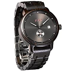 JORD is the top selling premium wood watch brand in the world. The Hyde series pairs modern minimalism with natural sophistication. Walnut wood offers dense grain lines across the band links and circular case. All wood is hand sanded and polished to ...
