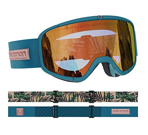 Salomon Damen Goggles Sense Sonnenbrille, Blaugrün (Deep Teal), NS