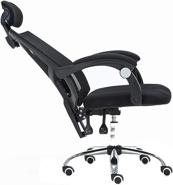 LIYFF DeskChair 凳子人体工学游戏赛车转椅办公家用高度可调可躺人体工学椅子 360 旋转办公椅扶手靠背黑色 120千克