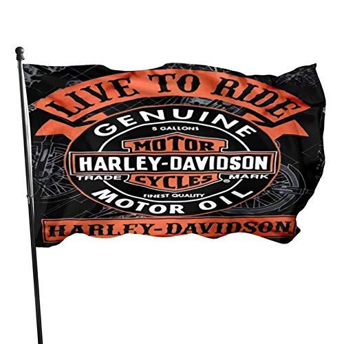 Nicegift Harley Davidson Outdoor Gartendekoration Banner Frühlingswärmehof Für Feiertage Patio Party Dekoration Polyester New