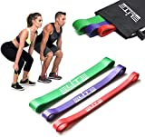 Heavy Thick Resistance Bands Set of 3, Deadlift Band, Glute Activation, Booty Exercise, Hip Band and...