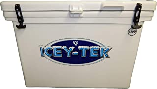 ICEY-TEK Classic 120 Quart Cooler with Internal 30/70 Divider- Cube Style Ice Chest
