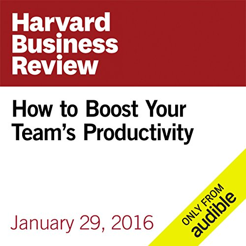 How to Boost Your Team's Productivity audiobook cover art