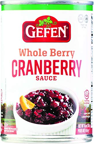 Gefen Whole Berry Cranberry Sauce 16oz (1 Pack) No High Fructose Corn Syrup, Nothing Artificial